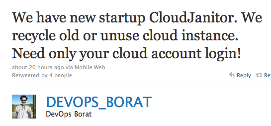 We have new startup CloudJanitor. We recycle old or unuse cloud instance. Need only your cloud account login!