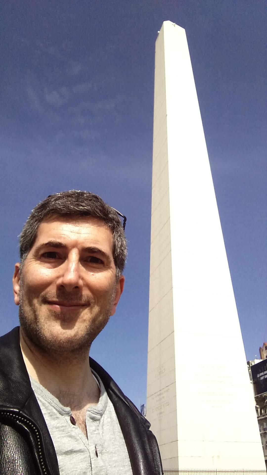El Obelisco in Plaza de la República, Buenos Aires, Argentina